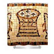 Loaves And Fishes Mosaic Shower Curtain
