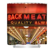 Loback Meat Co Neon Shower Curtain