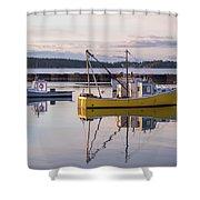 Lobster Boat Jonesport, Maine  Shower Curtain