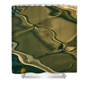 Lobster Boat Reflection Abstract #2 Shower Curtain