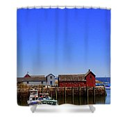 Lobster Boats In Harbor Shower Curtain