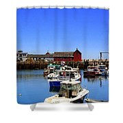 Lobster Boats Shower Curtain
