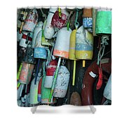 Lobster Buoys Hanging Shower Curtain