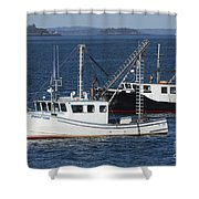 Lobster Fishing Boats Shower Curtain