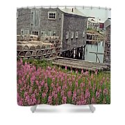 Lobster House Grand Manan Shower Curtain