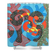 Lobster Party Shower Curtain