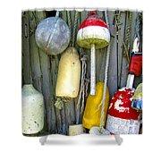 Lobster Trap Buoys 2 Shower Curtain