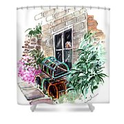 Lobster Traps In Runswick Bay Shower Curtain