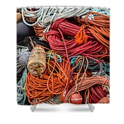 Lobstering Lines Shower Curtain