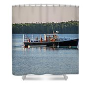 Lobstermen At Work  Shower Curtain