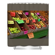 Local Apples For Sale Shower Curtain
