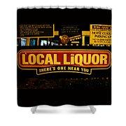 Local Liqour Shower Curtain