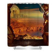 Location Location Shower Curtain
