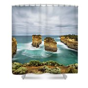 Loch Ard Gorge  In Victoria, Australia Shower Curtain