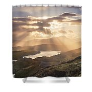 Loch Ard Sunburst 1 Shower Curtain
