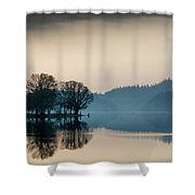 Loch Ard Reflection Shower Curtain