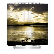 Loch Bracadale Sunset Shower Curtain
