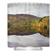 Loch Faskally Autumn Shower Curtain