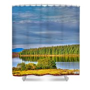Loch Kinardochy Reflections Shower Curtain