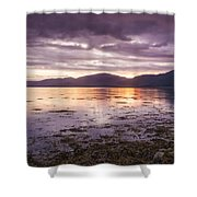 Loch Linnhe - The Last Rays Of The Sun. Shower Curtain