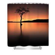 Loch Lomond Afterglow Shower Curtain