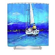 Loch Lomond Sail Shower Curtain