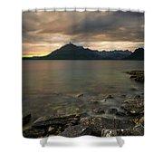 Loch Scavaig Stones Shower Curtain