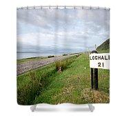 Lochaline This Way Shower Curtain