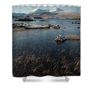Lochan Nah-achlaise, Rannoch Moor, Scotland Shower Curtain