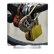 Lock With Rhinestones Shower Curtain