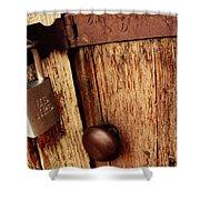 Locked Barn Shower Curtain