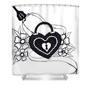 Locked Love Shower Curtain