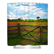 Locked Up Beauty Shower Curtain