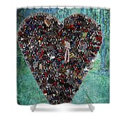 Locket Heart-3 Shower Curtain