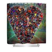 Locket Heart-4 Shower Curtain
