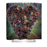 Locket Heart-6 Shower Curtain