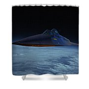 Lockheed A-12 Oxcart Oil Shower Curtain