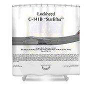 Lockheed C-141b 60maw Grey Shower Curtain