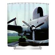 Lockheed Ec-121d Warning Star, Early Warning Aircraft Shower Curtain