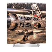 Lockheed F-94 Model C Starfire Shower Curtain