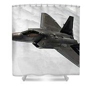 Lockheed Martin F-22 Raptor, 2015 Shower Curtain
