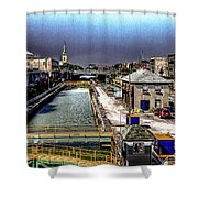 Lockport Canal Locks Shower Curtain