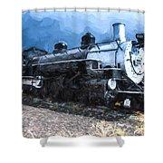 Locomotive 495 A Romantic View Shower Curtain