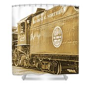 Locomotive And Coal Car Of Yesteryear Shower Curtain