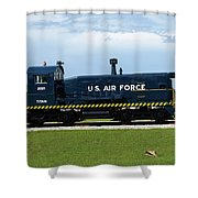 Locomotive For Titan Rockets At Cape Canaveral In  Florida Shower Curtain