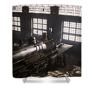 Locomotive Repair Shop - December 1942 Shower Curtain