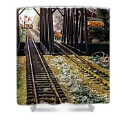 Locomotive Tracks Shower Curtain