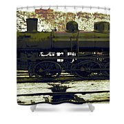 Locomotive Vector Shower Curtain