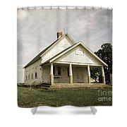 Locust Prairie One Room School Aged Shower Curtain