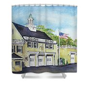 Locust Valley Firehouse Shower Curtain